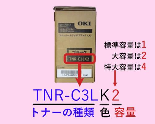 TNR-C3LK2を表す型番のトナー