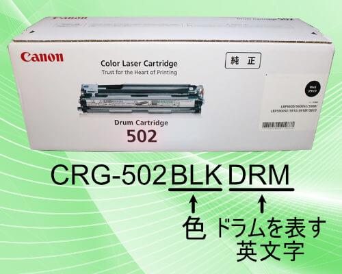 CRG-502BLKDRMのドラムカートリッジ