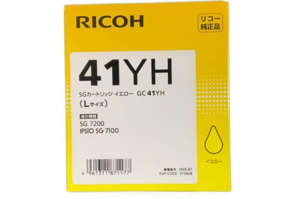 RICOH SGカートリッジ イエロー GC41YH 大容量インク 515828